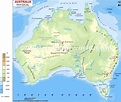 Australia Physical Map | World Maps | Pinterest | Maps and ...