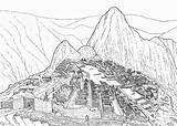 Machu Pichu Andes Macchu Colorear Sketch Condor Coloriages Geografia Kewl sketch template