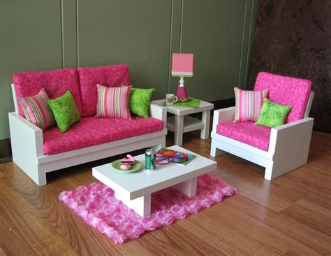 American Doll Living Room Plans by 18 Quot Doll Furniture American Sized Living Room