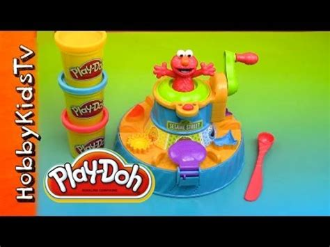 play doh color mixer play doh elmo color mixer box opening review hobbykidstv