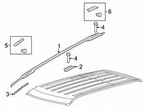 2015 Ford Explorer Roof Luggage Carrier Side Rail Clip
