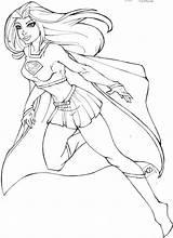 Colorare Batgirl Supergirl Coloring sketch template