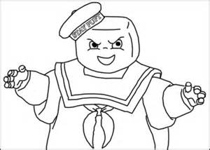 Stay Puft Marshmallow Man Free Coloring Pages