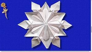 Flocon De Neige En Papier Facile Maternelle : origami flocon de neige dennis walker youtube ~ Melissatoandfro.com Idées de Décoration