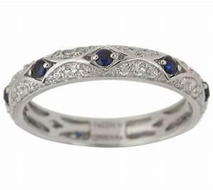 tacori iv diamonique epiphany lab created sapphir With tacori wedding rings qvc