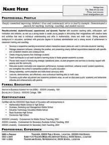 4 Latest Resume Format For Teachers Ledger Paper