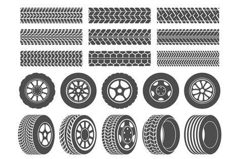 Wheel Tires. Car Tire Tread Tracks, Motorcycle Racing