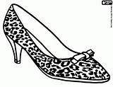 Coloring Shoes Pages Printable Games Shoe Leopard Skin Ministry Heels Drawing Oncoloring Print Zentangles Womens Illustration sketch template