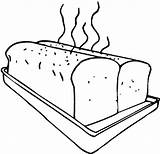 Bread Coloring Sheet Baking Loaf Bakery Toast Fresh Warm sketch template