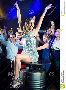 Party People Dancing In Disco Or Club Stock Photos - Image ...
