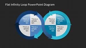 Flat Infinity Loop Powerpoint Diagram