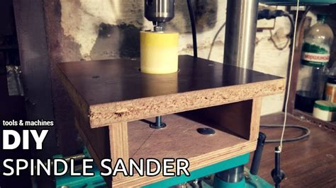 cheap diy oscillating spindle sander  drill press youtube