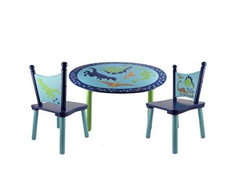 dinosaur table and chair set dinosaurs painted wood kids table and chair set