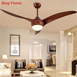 Nordic Brown Vintage Ceiling Fan With Lights Remote