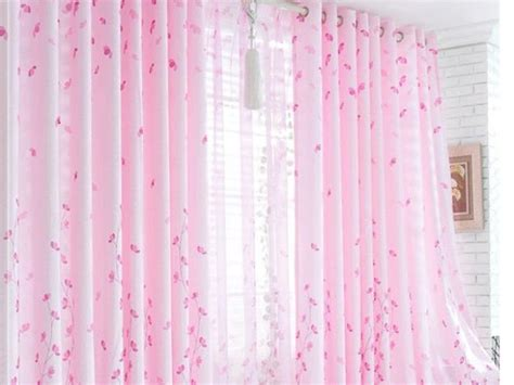 Home Curtain : Pink Curtain Design For Home Windows-ideas