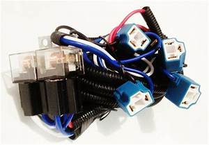Cadillac Headlight Relay Wiring Harness 4 Head Lamp