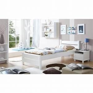 Futonbett 100x200 Weiß : einzelbett 100x200 cm funktionsbett holzbett wei real ~ Markanthonyermac.com Haus und Dekorationen