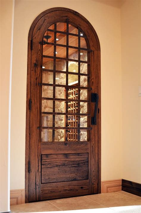 interesting doorhas curveallows viewing  wine room
