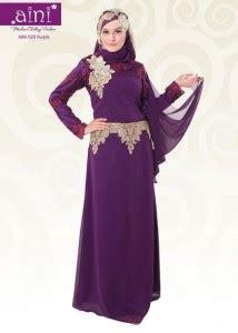 aini bunda  purple pusat busana gaun pesta muslim modern