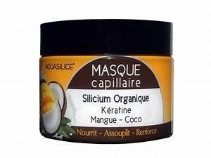 Masque Capillaire Huile De Coco : masque capillaire mangue coco avec sillicium organique keratine 250 ml aquasilice ~ Melissatoandfro.com Idées de Décoration