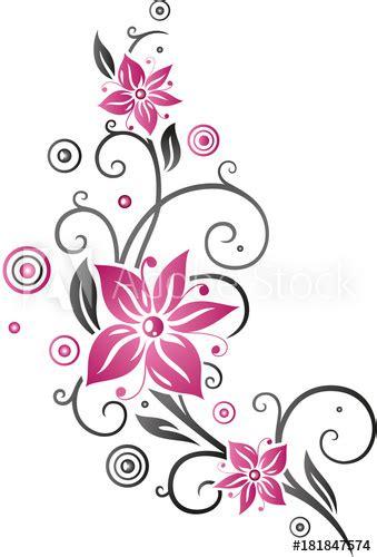 bilder blumenranken blumenranke mit gro 223 en bl 252 ten sommerblumen pink