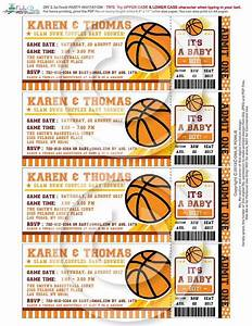 basketball ticket pass baby shower printable 25 x 7 inch With sports ticket template free download