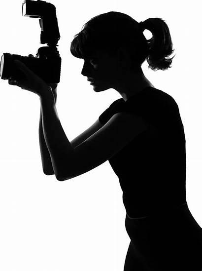 Silhouette Photographer Female Clipart Gun Transparent Clip