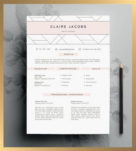 25 best ideas about creative resume design on