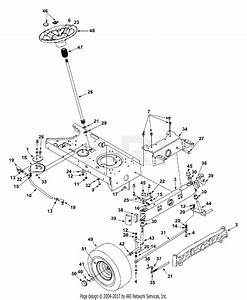 Mtd 13an698g131  2002  Parts Diagram For Axle  U0026 Wheels Front  Steering