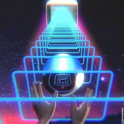 Retro 80s Trippy Synthwave Animation Sign Loop