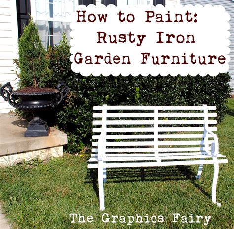 how to paint iron garden furniture the graphics