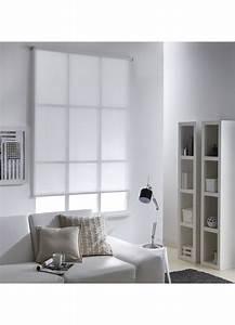 Store Enrouleur Blanc : store enrouleur voile rayure ajour blanc homemaison ~ Edinachiropracticcenter.com Idées de Décoration