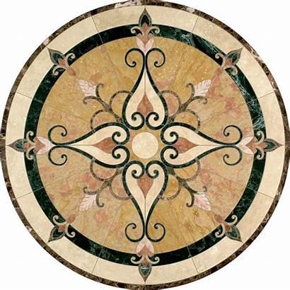 Medallion Stone Tile Cassina Floor Border Tiles