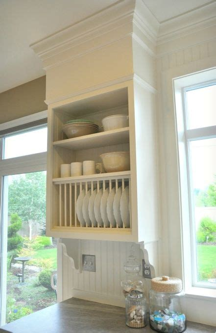 plate rack formica soapstone sequoia counters built  faux bulkhead  millwork kitchen