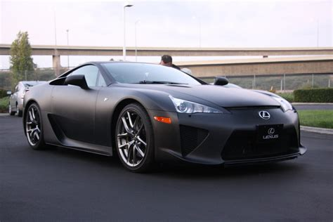 Matte Black and mean...   Lexus LFA @ Cars and Coffee   Flickr