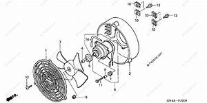 Honda Atv 2003 Oem Parts Diagram For Cooling Fan