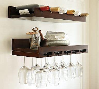 pottery barn wine rack space saving holman shelves bar and wine
