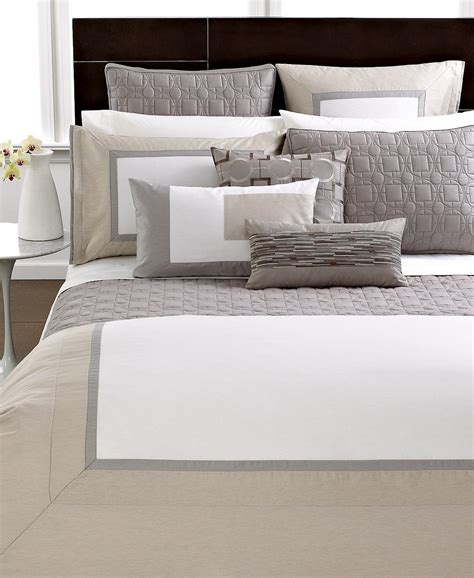 modern bedding collections hotel collection modern block comforter