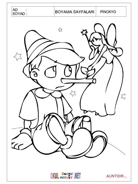 Pinokyo Boyama Eğitimhane Resimlere Göre Ara Red