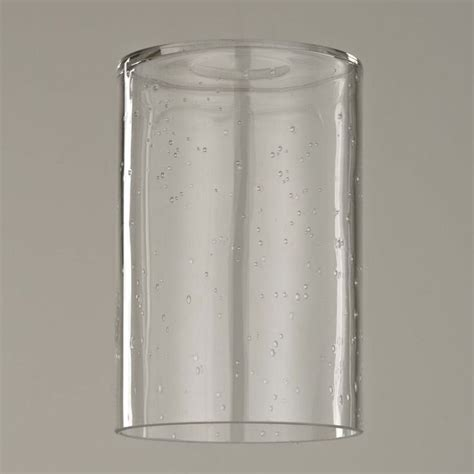 Design Classics Lighting 6 Inch Tall Clear Seeded Cylinder