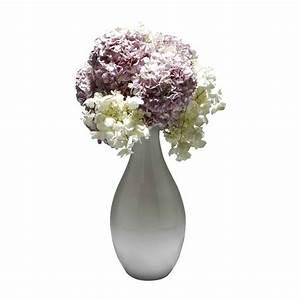 Pink & White Hydrangea Artificial Flower Arrangement ...