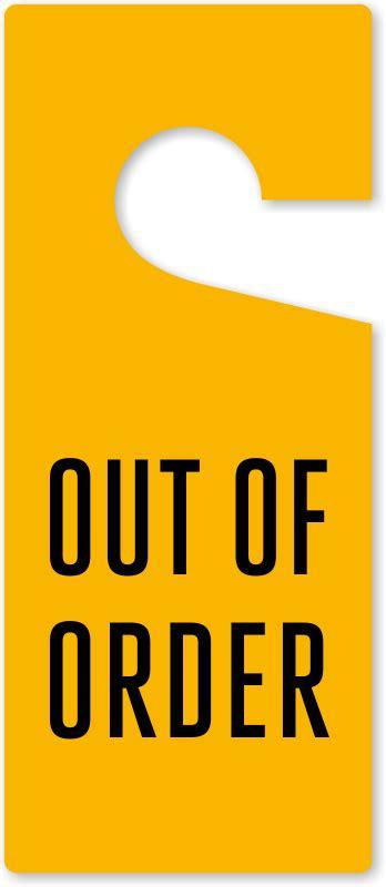 Out Of Order Door Knob Hang Tag At Low Price, Sku Tg1388