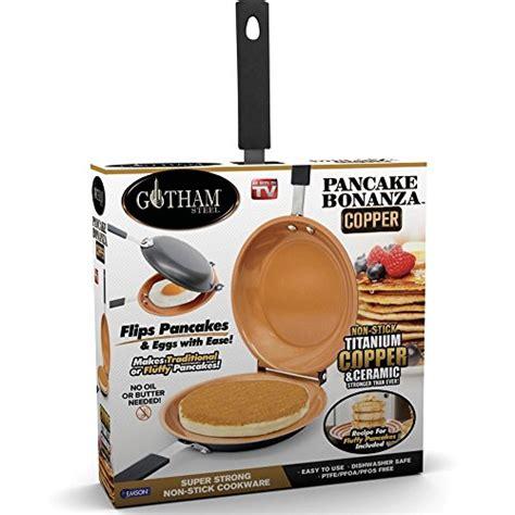 gotham steel   stick copper pancake bonanza large brown top bargain cookware pans