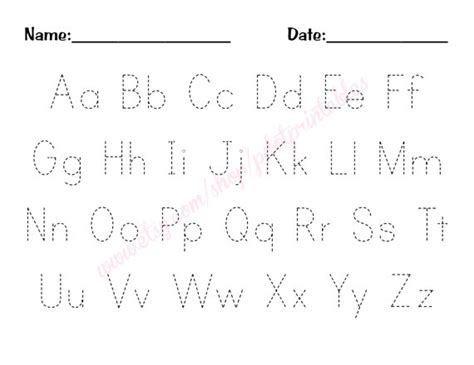printable letters to trace printable alphabet tracing worksheets pdf 101 printables 27913