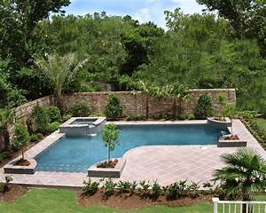Inground pool landscaping ideas bistrodre porch and for Swimming pool and landscape designs