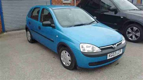 vauxhall corsa blue 2003 vauxhall corsa gls 16v blue car for sale
