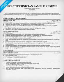 resume for hvac installer hvac technician resume sle resumecompanion resume sles across all industries