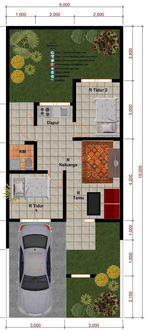 denah rumah ukuran   lantai huniankini