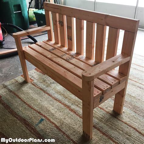 diy outdoor bench diy 2x4 wood garden bench myoutdoorplans free