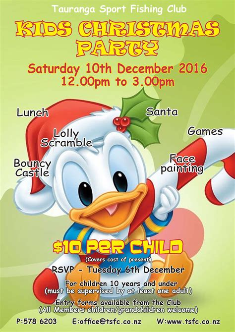 Kids Christmas Party Sat 10th Dec Tauranga Sport